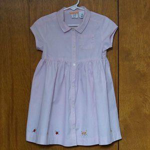 GAP Girls Pink and White Dress